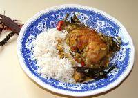 Murgh piralen (Gebratenes Huhn in Masala)